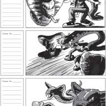 "Storyboard sequence for short animation ""Sands of Time"""