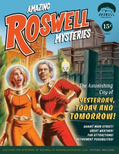 """Illustration for the city of Roswell as part of the """"Roswell Mysteries"""" campaign"""