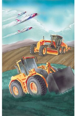 Poster illustration for the 2013 New Mexico Equipment Roadeo