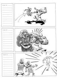 """Storyboard sequence for short animation """"Sands of Time"""""""