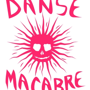 DANSE MACABRE: Title graphics for a faculty art show at the Southwest University of Visual Arts.