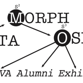 METAMORPHOSIS: Title graphics for an alumni art show at the Southwest University of Visual Arts.